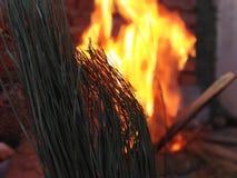 Burning de madera imágenes de archivo libres de regalías