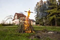 Burning de sorcière Photographie stock libre de droits