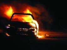 Burning de véhicule Photos libres de droits