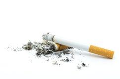 Burning del cigarrillo Fotografía de archivo