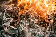 Burning del fuego Fotografía de archivo