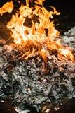 Burning del fuego Imagen de archivo libre de regalías