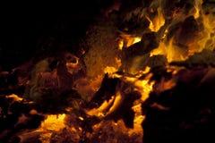 Burning del fuoco Immagine Stock