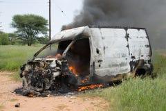 Burning dell'automobile Fotografia Stock Libera da Diritti