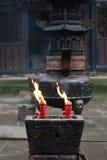 Burning di incenso   Immagini Stock