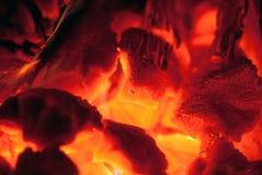 Burning di legno Immagini Stock