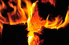 Burning di legno   Immagine Stock Libera da Diritti