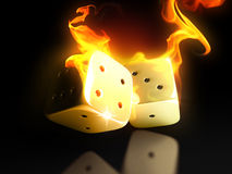 Burning dice Royalty Free Stock Photography