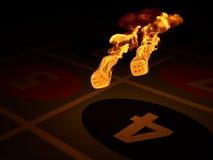 Burning dices Stock Photo