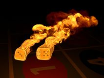 Burning dices Royalty Free Stock Images