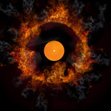 Burning disc Stock Image