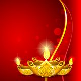 Burning Diwali Diya stock illustration