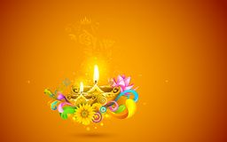 Burning Diwali Diya Royalty Free Stock Photos