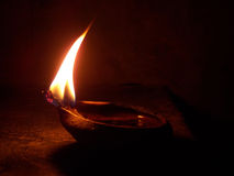 A burning diya Royalty Free Stock Photo