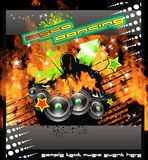 Burning DJ Music Background Royalty Free Stock Photos