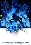 Burning DJ Music Background Stock Image