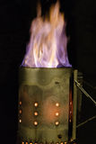 Burning do carvão vegetal Imagens de Stock
