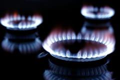 Burning do gás imagens de stock royalty free