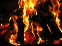 Burning do incêndio Imagens de Stock
