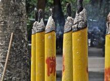 Burning do incenso, sibilo de Ngong, Hong Kong Imagem de Stock Royalty Free