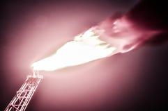 Burning do petróleo e gás Fotografia de Stock Royalty Free