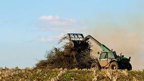 Burning do resíduo da colheita Imagens de Stock