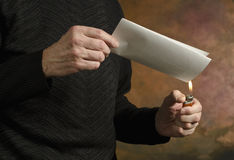 Burning document_2 Royalty Free Stock Photography