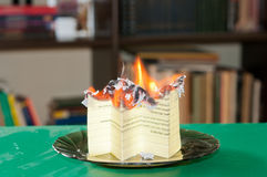 Burning document Royalty Free Stock Image