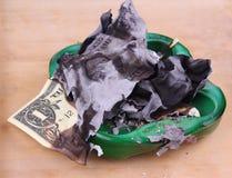 Burning dollar bill Stock Photography