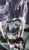 Burning dollar bill Stock Photography