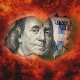 Burning dollar bill Royalty Free Stock Image
