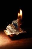 Burning Dollars Royalty Free Stock Images
