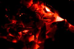 Burning down fire Royalty Free Stock Photo
