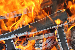 Burning down fire Royalty Free Stock Image