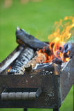 Burning down fire Stock Photography