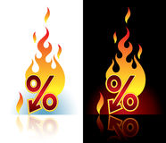Burning downpercent Royalty Free Stock Images