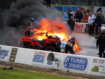 Burning drag car 4 Stock Photography