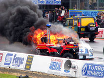 Burning drag car 5 Stock Images