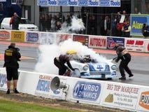 Burning drag car 6 Stock Photo