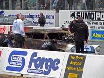 Burning drag car 7 Stock Image