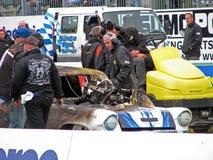 Burning drag car 9 Stock Photo