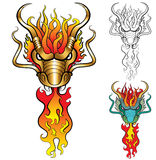 Burning Dragon Royalty Free Stock Photography