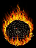 Burning dreamcatcher stock photography
