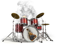 Burning drums Royalty Free Stock Photo