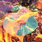 Burning dvd Royalty Free Stock Images