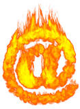 Burning E-mail Symbol AT Royalty Free Stock Image