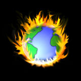 Burning earth Stock Photo
