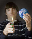 Burning the earth Royalty Free Stock Photo