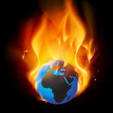 Burning earth Royalty Free Stock Photography