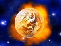 Burning Earth Stock Photography